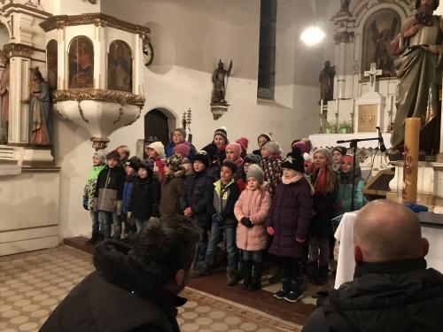 Rozsvícení vánočního stromu ve Všerubech - 30. 11. 2019